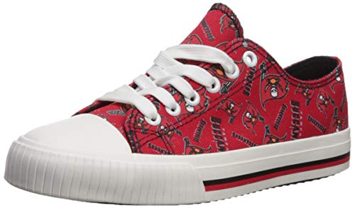 d24df470a697da FOCO NFL Tampa Bay Buccaneers Women s Low Top Repeat Print Canvas Footwear