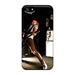 Excellent Hard Cell-phone Case For Iphone 5/5s With Allow Personal Design High Resolution Grave Band Pattern SherriFakhry