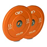 Cheap Valor Fitness BPX-15 10lb Bumper Plate X (Set of 2)