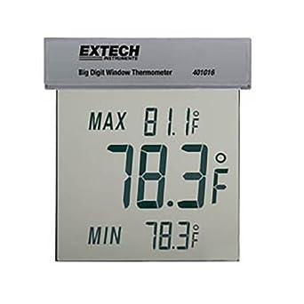 Extech 401016 dígitos grandes ventana termómetro ° F