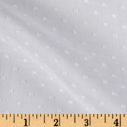 (Michael Miller Clip Dot White Fabric by The Yard)