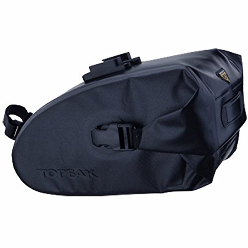 Topeak Wedge Dr Bag with Fixer (Black, 9.1x4.3x5.1-Inch, Large)
