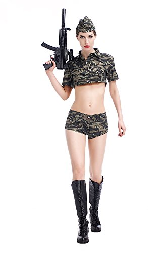 Secret Agent Costume Women (Zongsi Women Secret Agent Cop Costume Uniform Temptation Rolling Costume(S))