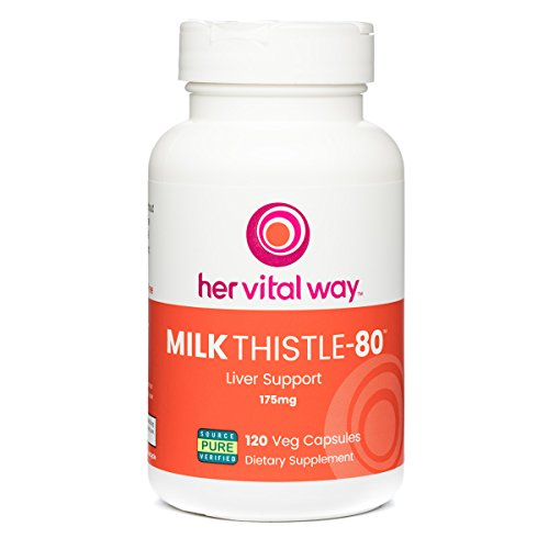 Milk Thistle-80 Liver and Immune Health Support, 80% Silymarin Antioxidant - No Harsh Solvents
