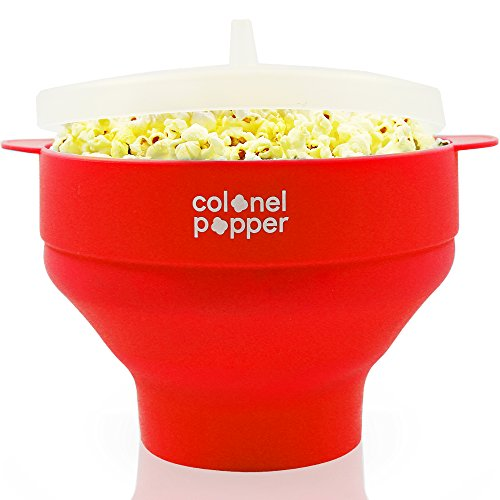 Colonel Popper Microwave Popcorn Popper Maker - Silicone Hot Air Pop Corn Bowl - Carmel Stores Indiana In