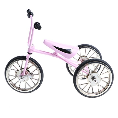 Baoblaze Replica 1/10th Miniature Alloy Diecast Kids Tricycle Racing with Real Brake Bike Model Collectibles ()