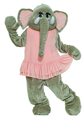 UHC Plush Dancing Elephant Mascot Funny Comical Theme Party Halloween Costume, (Elephant Mascot Costume)