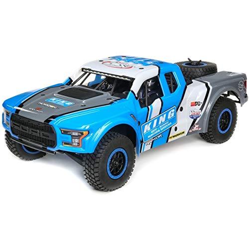 Losi 1/10 Ford Raptor Baja Rey 4WD RC Desert Truck Brushless 2.4GHz RTR, King Shocks, King of Shocks: Blue