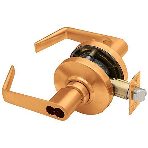 Classroom Function Schlage commercial AL70JDSAT612 AL Series Grade 2 Cylindrical Lock Satin Bronze Finish Saturn Lever Design