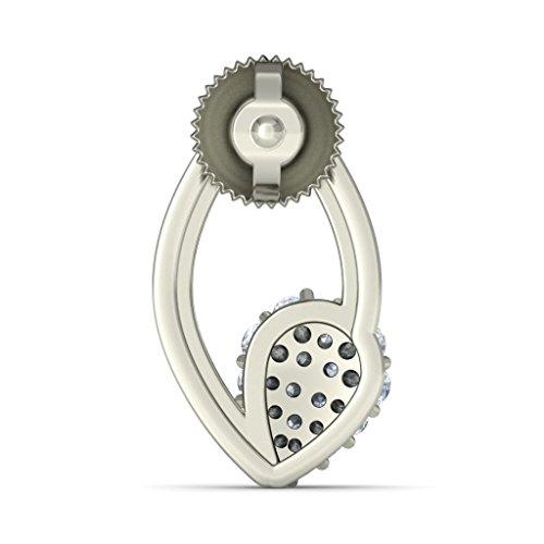 Or blanc 18K 0.252CT TW Round-cut-diamond (IJ | SI) Boucles d'oreille à tige