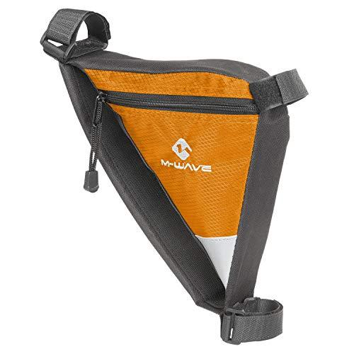 (M-Wave Bicycle Cycling Frame Bag, Black/Orange)