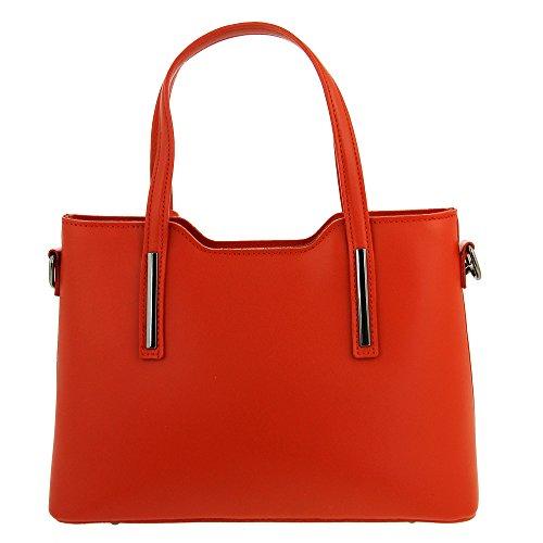 Christian Laurier - Sac à main en cuir modèle Harvey rouge - Sac à main haut de gamme fabriqué en Italie en cuir véritable