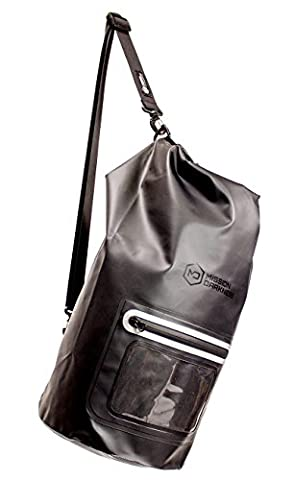 Mission Darkness Dry Shield Faraday Tote 15L. Waterproof Dry Bag for Electronic Device Security & Transport / Signal Blocking / Anti-tracking / EMP Shield / Data Privacy for Phones, Tablets, - Cage Shield