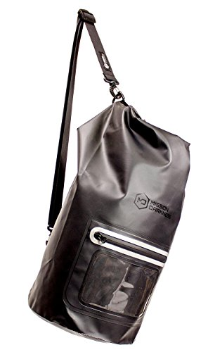 Mission Darkness Dry Shield Faraday Tote 15L. Waterproof Dry Bag for Electronic Device Security & Transport / Signal Blocking / Anti-tracking / EMP Shield / Data Privacy for Phones, Tablets, Laptops by Mission Darkness