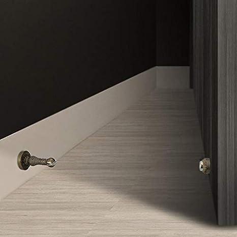 XYSQ Wall Mount Door Holder Door Stopper Fits Standard Door Gaps Color : Brass Zinc Alloy Door Catch Keep Your Door Open Door Stops Decoration No Sliding Or Marking Floors