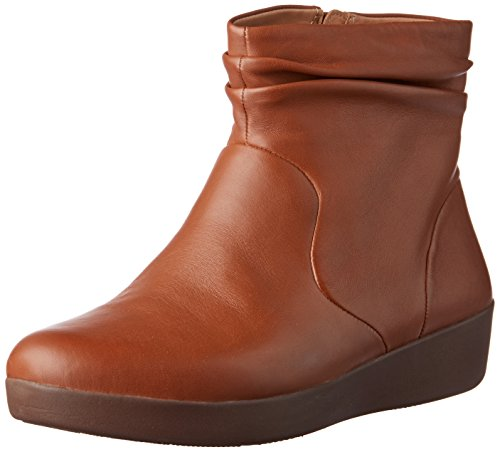 098 Marrone Leather Fitflop Caramel Donna Stivaletti Skatebootie qYCwPI