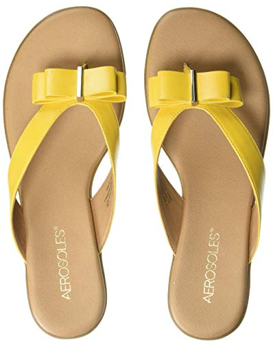(Aerosoles - Women's Mirachle Sandal - Casual Thong Sandal with Memory Foam Footbed (6.5M - Yellow))