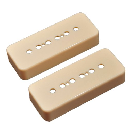 Kmise A8131 1 Pair P90 Soapbar Pickup Cover for LP Style Guitar 50/52mm Pole Space