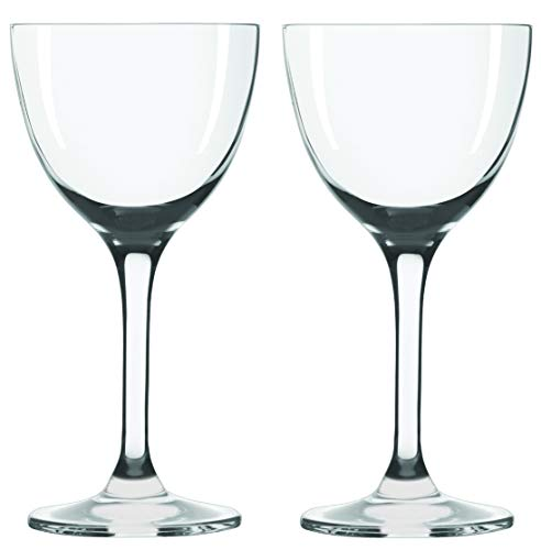 Nick & Nora Cocktail Glasses - Set of 2 (5oz) Small Plain Vintage Coupe Glass, for Bar Serving Martini, Aperitif, Algonquin, Manhattan, Straight Up, Gin Drinks, Port Wine, Liquor and Spirit Tastings