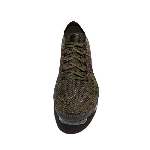 Nike Hommes Air Vapormax Flyknit, Fret Kaki / Noir-olive Moyen, 8 M Us