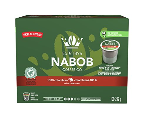 NABOB 100-Percent Colombian Coffee Pods, 292g, 30 Count