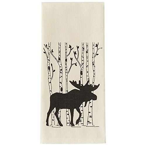 Park Designs Birch Tree Printed Dishtowel (Moose)