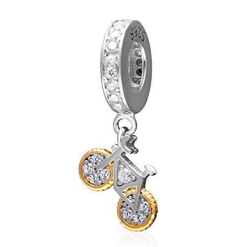 Dangle Charms Bicycle Authentic 925 Sterling Silver - Fit European Charms (Charm Bike Pandora)