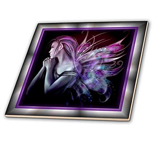 3dRose ct_21285_4 Mystical Fairy Ceramic Tile, -