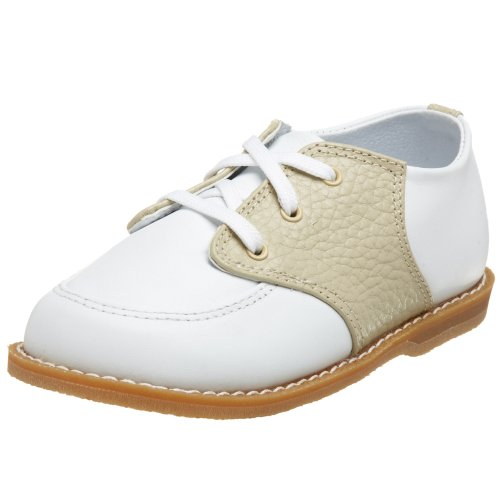 Baby Deer 5176 Conner Saddle Shoe (Toddler),White/Tan,4 M US Toddler ()