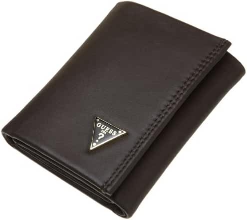 Guess Mens Cruz Leather Credit Card Trifold Wallet