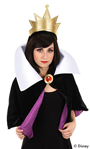 (elope Disney's Snow White Evil Queen Headband Crown and Collar)
