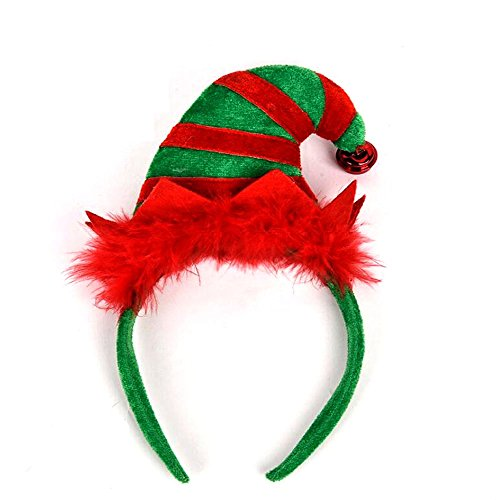 Sakolla Feather Christmas and Holiday Party Fashion Elf Headband, 9