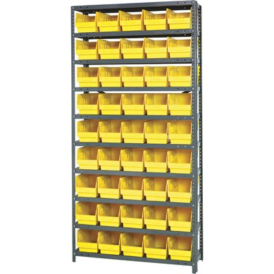 Quantum Storage Complete Shelving System with 6in. Bins -