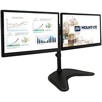 adjustable dual monitor stand computer monitor stands electronics. Black Bedroom Furniture Sets. Home Design Ideas