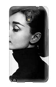 Fashion Case Cover For Galaxy Note 3(audrey Hepburn Black And White)