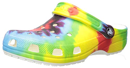 Crocs Kids' Classic Tie Dye Clog   Slip On Shoes for Boys and Girls
