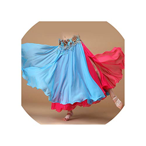 Dancewear Belly Dance Clothing Long Maxi Skirts Double