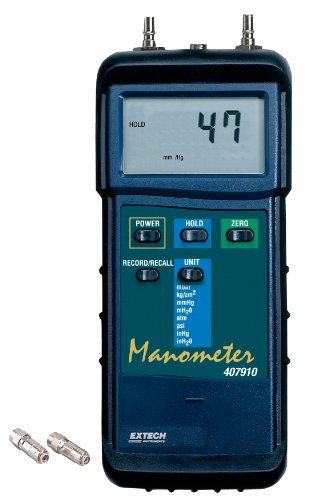 Extech 407910 Heavy Duty 29psi Differential Pressure Manometer ()