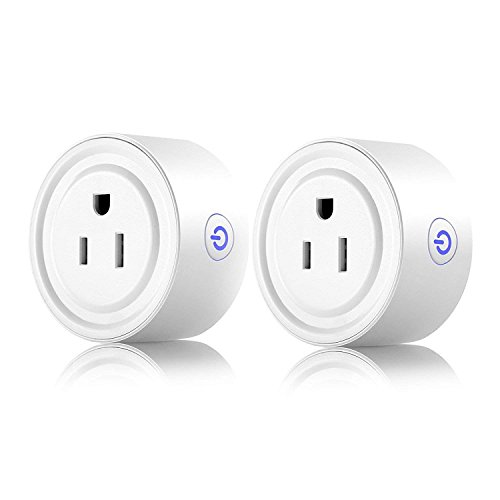 SEN-KEY Smart Plug 2 Pack, Smart WIFI Outlet Mini Socket Work with Alexa Google Assistant for Voice Control, No Hub Required, Remote Control, ETL Certified Smart Socket