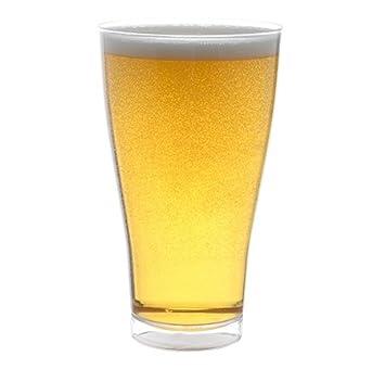 Plástico duro Pilsner vasos (poliestireno) - 400 ml (14 oz) - 6 unidades: Amazon.es: Hogar