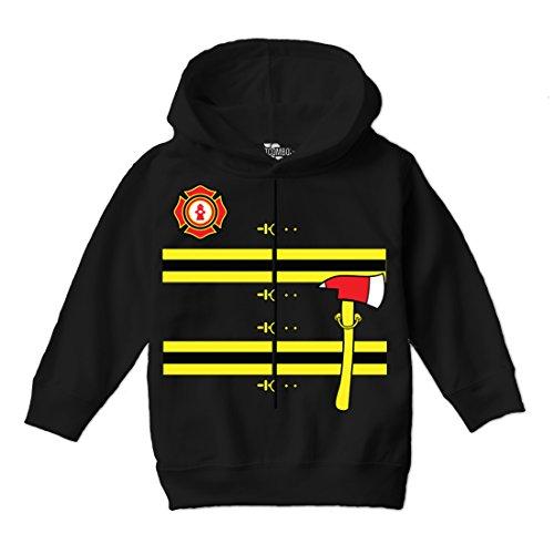 Tcombo Firefighter Costume Toddler Hoodie Sweatshirt (Black, 4T) ()