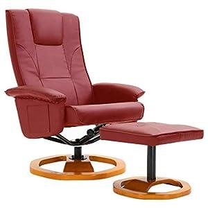 vidaXL Fauteuil TV Pivotant avec Repose-Pied Fauteuil Relax avec Pouf Tabouret Chaise Salon Salle de Séjour Maison…