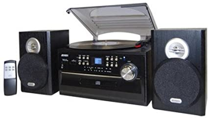 Perfect JENSEN JTA 475B 3 Speed Stereo Turntable With CD System, Cassette, And