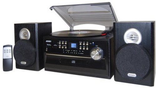 Jensen JTA475B 3-Speed Turntable with CD, AM/FM Stereo Radio