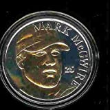 1998 Highland Mint MLB Baseball Collectible 39mm Coin: Gold/Silver Two Tone: Mark McGwire - St Louis Cardinals - 70 HRs
