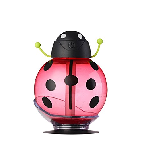 Essential Oil Diffuser Humidifier, AMA(TM) 260ml Beatles Ultrasonic Aroma LED Mist Humidifier Air Purifier Home Decor for Office Car Home Bedroom Living Room Study Yoga Spa (Red)