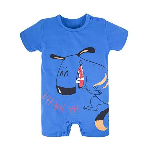BIG ELEPHANT Baby Boys'1 Piece Graphic Short Sleeve Romper Jumpsuit