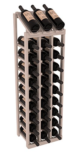 Cheap Wine Racks America Ponderosa Pine 3 Column 10 Row Display Top Kit. Grey Wash Stain + Satin Finish