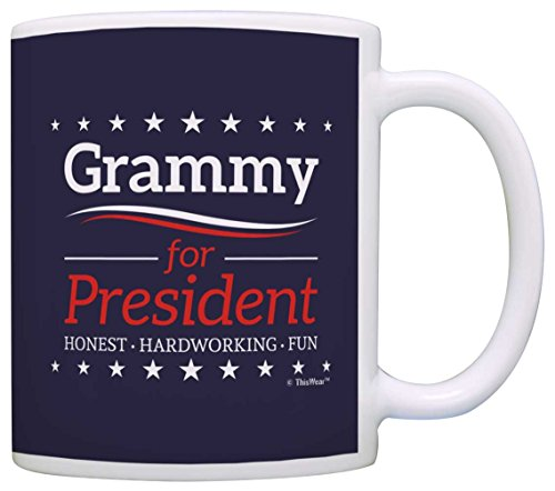 Grandma Birthday Gifts Grammy for President Funny Mothers Day Gift Coffee Mug Tea Cup Blue