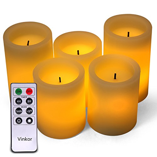 Ombre Design Pillar Real Wax Flameless Candles ...